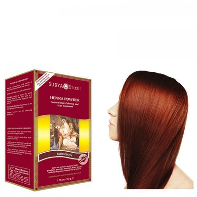 Surya Brasil - Henna Haarkleuring: Powder Burgundy
