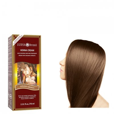 Surya Brasil - Henna Haarkleuring:  Cream Golden Brown