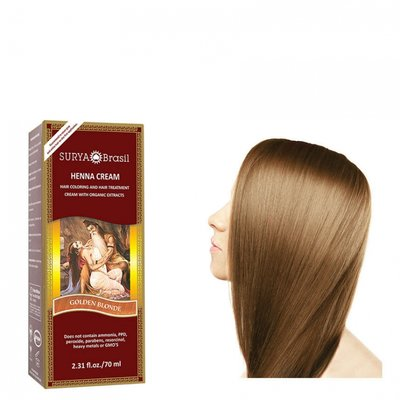 Surya Brasil - Henna Haarkleuring: Cream Golden Blonde