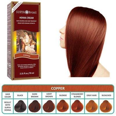Surya Brasil - Henna Haarkleuring: Cream Copper