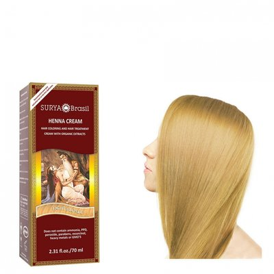 Surya Brasil - Henna Haarkleuring:  Cream Light Blonde