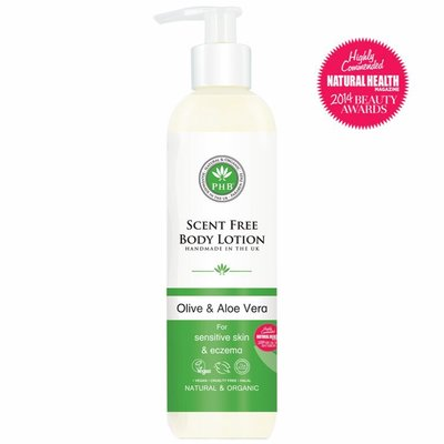 PHB Ethical Beauty - Scent Free Body Lotion: Olive & Aloe Vera