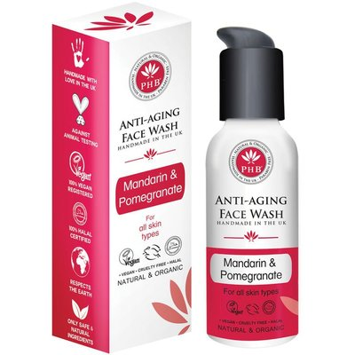 PHB Ethical Beauty - Anti-Aging Face Wash: Mandarin & Pomegranate