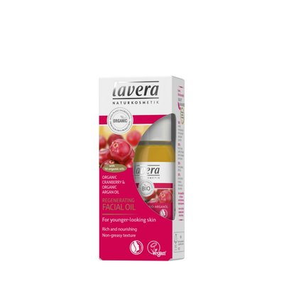 Lavera - Regenerating Facial Oil: Organic Cranberry & Organic Argan Oil