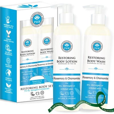 PHB Ethical Beauty - Restoring Set: Body Wash & Body Lotion