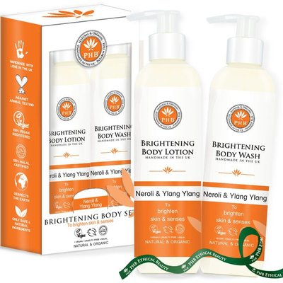 PHB Ethical Beauty - Brightening Set: Body Wash & Body Lotion