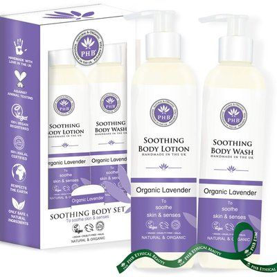 PHB Ethical Beauty - Soothing Giftset: Body Wash & Body Lotion