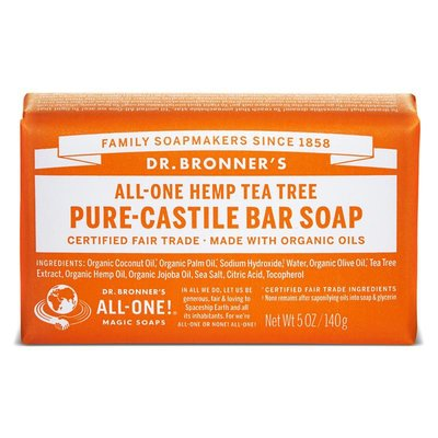 Dr. Bronner's - Pure Castile Soap Bar: Tea Tree