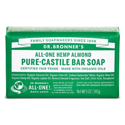 Dr. Bronner's - Pure Castile Soap Bar: Almond