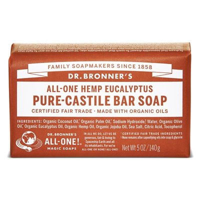 Dr. Bronner's - Pure Castile Soap Bar: Eucalyptus