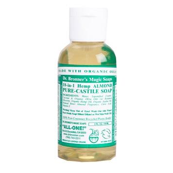 Dr. Bronner's - Magic Pure Castile Soap: Amandel 59 ml, 240 ml, 475 ml of 945 ml Vanaf: