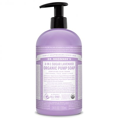 Dr. Bronner's -  Organic Sugar Hand & Body Soap: Lavender 710 ml