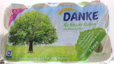 Danke - 3-Laags Tissue Toiletpapier