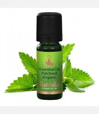Alambika - Etherische olie: Patchouli Biologisch Gecertificeerd 10 ml  (tht: 03-2020)