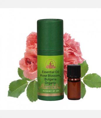 Alambika - Etherische olie: Rose Blossom Bulgaria / Rozenolie Bulgarije Biologisch Gecertificeerd (tht: 10-2021)