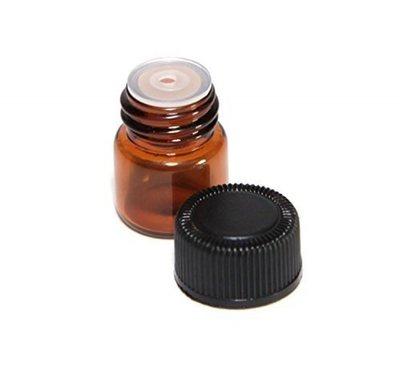 Navulbaar Flesje: 1 ml Amber Glas