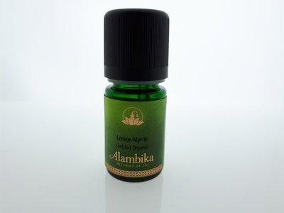 Alambika - Etherische olie: Lemon Myrtle / Citroenmirte Biologisch Gecertificeerd 10 ml (tht: 03-2020)