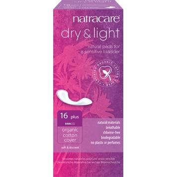 Natracare - Incontinentieverband Dry & Light 16 Plus