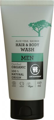 Urtekram - Men Hair & Body Wash Baobab & Aloë Vera