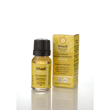 Khadi - Face & Body Oil: White Lily 10 ml