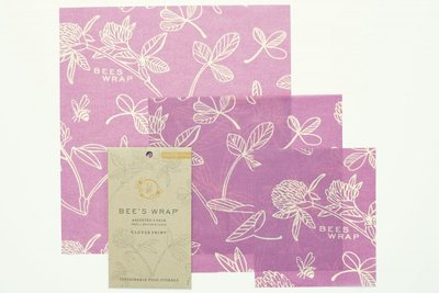 "Bee's Wrap - 3-Pack Assortiment ""Mimi's Purple"" Small, Medium & Large"