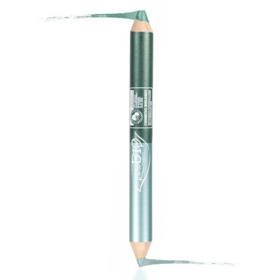 puroBIO - Duo Eye Pencil NIGHT: Kajal Petrol & Eyeshadow Emerald 02