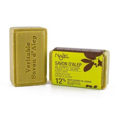 Najel - Aleppo Zeep: Pure Olive Soap 12% Laurier 100 gram