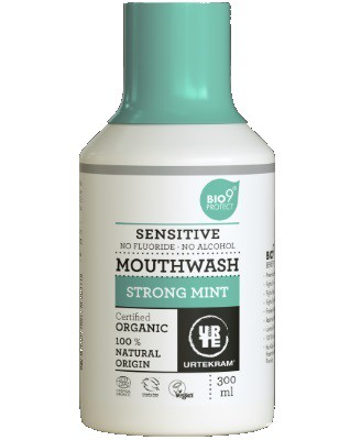 Urtekram - Mouthwash Sensitive Strong Mint
