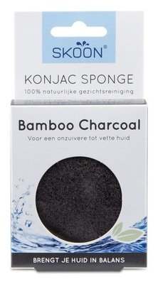 Skoon Natural Cosmetics - Konjac Spons: Bamboo Charcoal