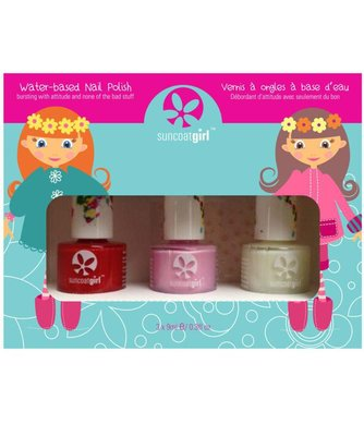 Suncoat Girl - Non Toxic Nagellak Set 3 Kleuren: Ballerina Beauty