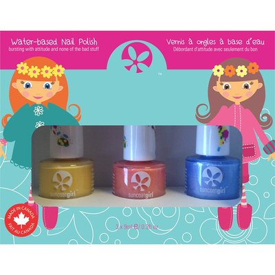 Suncoat Girl - Non Toxic Nagellak Set 3 Kleuren: Egg-spiration