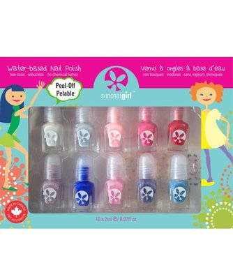 Suncoat Girl - Non Toxic Nagellak Set 10 Kleuren: Flair & Fancy