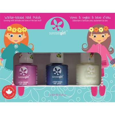 Suncoat Girl - Non Toxic Nagellak Set 3 Kleuren: Mermaid Princess