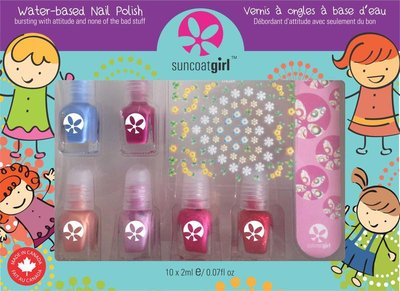 Suncoat Girl - Non Toxic Nagellak Set 6 Kleuren: Mini Mani