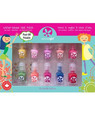 Suncoat Girl - Non Toxic Nagellak Set 10 Kleuren: Party Pallete