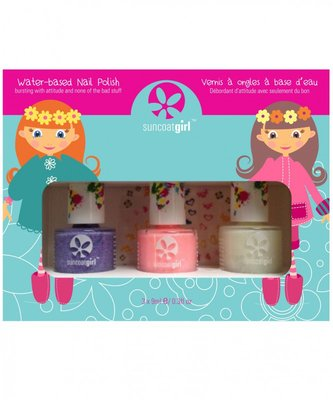Suncoat Girl - Non Toxic Nagellak Set 3 Kleuren: Pretty Me