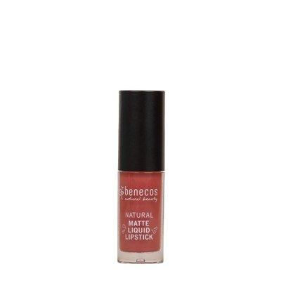 Benecos -  Natural Mat Liquid Lipstick: Rosewood Romance