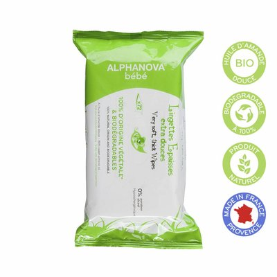 Alphanova Bebe - Natural Wipes 1 x 72stuks