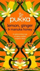 Citroen, Gember & Manuka honing   Pukka Org. Teas
