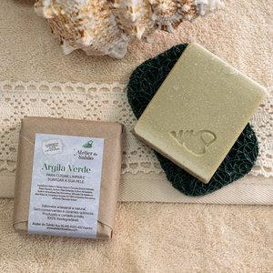 Groene klei zeep | Atelier do sabao