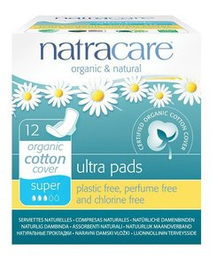 Natracare - Maandverband Super Met Vleugels / Natural Ultra Pads Super