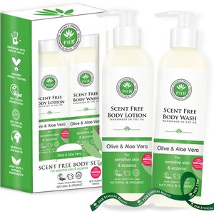 PHB Ethical Beauty - Scent Free Body Care Gift Set: Body Wash & Body Lotion