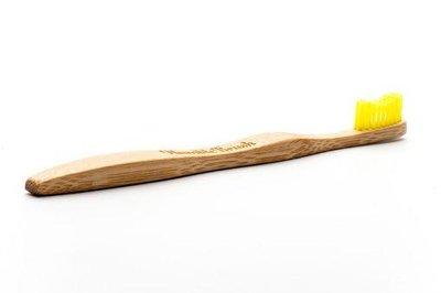 Gele bamboe tandenborstel