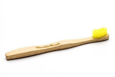 Bamboe gele kinder tandenborstel