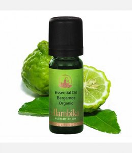 Alambika - Etherische olie: Bergamot (furocoumarin-free) Biologisch Gecertificeerd (tht: 01-2020)