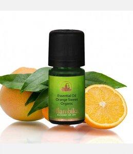 Biologische zoete sinaasappel olie