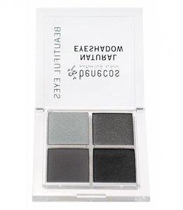 Oogschaduwdoosje met 4 kleuren grijs