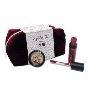 puroBIO - Make-up Tasje: Burgundy Velvet Etui